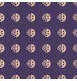 Moon and stars geometric seamless pattern vector image