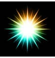 Abstract Background With Glowing Star vector image