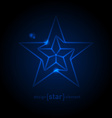 Abstract Glow Blue star vector image