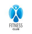 abstract blue logo for fitness club vector image vector image