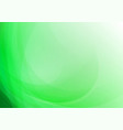 abstract curved green background vector image vector image