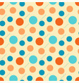 abstract pattern with retro circles on a light vector image