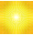 Abstract yellow light burst mosaic vector image vector image