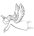 angel contour vector image vector image