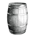 antique engraving oak barrel hand drawing vector image vector image