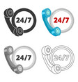 around the clock icon of for vector image