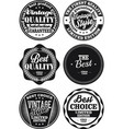 black and white vintage labels collection 1 vector image vector image