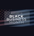 black business month banner african-american vector image