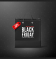 black friday black friday banner template black vector image vector image