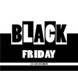 black friday sale banner on unusual background vector image