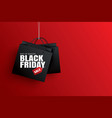 black friday sale with black shopping bag and the vector image vector image