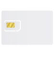 Blank sim card vector image vector image