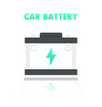 car battery accumulator icon in flat style vector image vector image