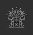 ceremonial chair built weapon vector image vector image