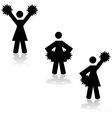 Cheerleaders vector image vector image
