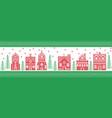 christmas winter wonderland village vector image vector image