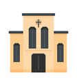 church with cross icon flat style vector image vector image