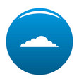 climate cloud icon blue vector image vector image