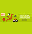 culture and traditions japan banner horizontal vector image vector image