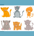 cute cat characters set vector image vector image