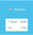 cutter logo design with business card template vector image vector image
