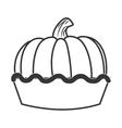 delicious pie dessert vector image