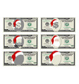 design template 50 dollars banknote with santa vector image vector image