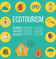 Ecotourism flyer poster vector image
