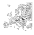 Europe immigration vector image vector image