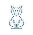 funny rabbit line icon concept funny rabbit flat vector image vector image