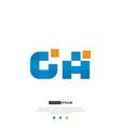 ga or ag logo letter initial design template