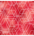 geometrical abstract pink seamless pattern vector image