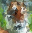 green brown natural forestry polygon triangular vector image vector image