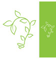 green bulb leaf vector image