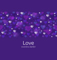 happy valentines day or wedding theme seamless vector image