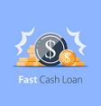 heap coins revenue increase high interest vector image vector image