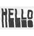 Hello glitch art typographic poster Glitchy word vector image vector image