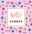 hello summer sale banner vector image