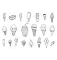 icecream icons set vector image vector image
