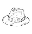 isolated hat outline vector image
