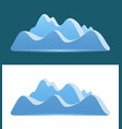 logo of blue mountains - logo of blue mountains on vector image