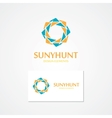 logo with abstract sun vector image vector image