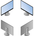 monitor in isometric view from four sides vector image vector image