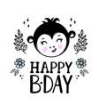 monkey birthday bacartoon clip art vector image