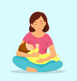 mother breastfeeding baby vector image vector image