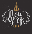 New York City Template Hand Drawn Calligraphy Pen vector image