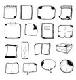note pads speech bubbles and office icons vector image vector image
