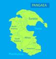 pangaea or pangea of vector image