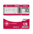 pattern airline boarding pass ticket vector image