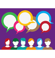 People talk background vector image